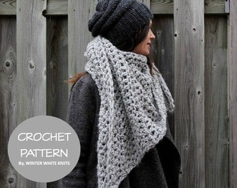 Crochet pattern- crochet triangle scarf pattern, PDF Instant Download Crochet Pattern, DIY crochet pattern, NOT a finished product,