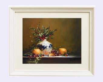 Still life print, Still life painting, Wall art, Art print, Home decor, Oil painting, Farmhouse decor, Floral,  Giclee, Cottage decor