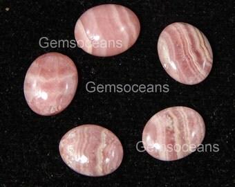 10 Pieces  Lot Natural Rhodochrosite Oval Shape Gemstone Cabochon