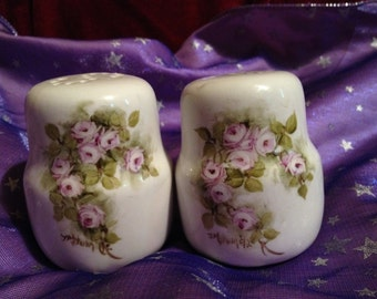 Hand painted vintage Salt and Pepper shakers
