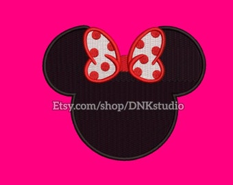 Disney Minnie Mouse Embroidery Design - 6 Sizes - INSTANT DOWNLOAD