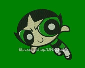 Buttercup Powerpuff Girls Embroidery Design - 5 Sizes - INSTANT DOWNLOAD