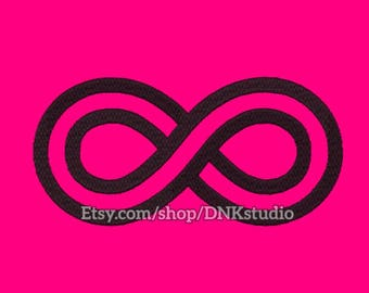 Infinity Infinite Embroidery Design - 6 Sizes - INSTANT DOWNLOAD