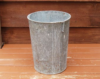 Galvanized Sap Bucket, Tall Galvanized Sap Bucket, Vintage King Bucket, Sap Pail, 3 Gallon Sap Bucket