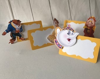 Beauty and the beast inspired party,The Beauty and the beast place cards,Beauty and the beast party Beauty and the beast food tent, Ct 12