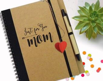 Mum's Notebook | Just For Mom | Kraft Notebook | Heart Notebook | Gift for Mom| Handmade notebook, Custom Journal, Personalised Notebook