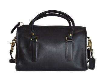 Vintage Handbags, Coach Black Leather Speedy Bag, 1980s Purse, Handbags, Coach Bag, Coach Purse, Black Purse, Black Handbags, Gift For Her