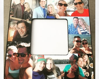Ships Free! Perfect friend, girlfriend, boyfriend gift! Custom photo frame, photo collage, square collage frame made with your pictures!