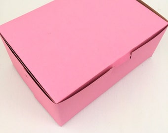 20 Bakery Pastries Cookies Muffins Pink Box 7 x 5 x 3 Gifts Baked Goods