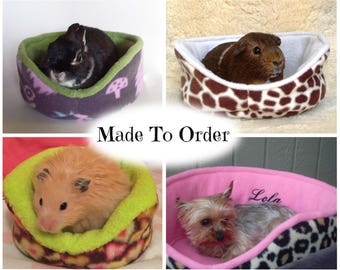 Custom personalized guinea pig cuddle cup | guinea pig bed | pet bed | small animal | bunny | ferret | chinchilla | hedgehog  MADE TO ORDER