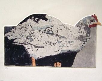 Hen /etching