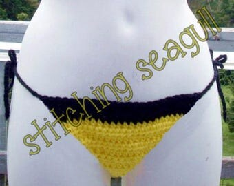 Crocheted Bikini Bottoms  Custom Color and Size   Swimsuit/Swimwear  Rush Available!  Made to order