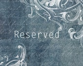 Reserved for Mary ~~~