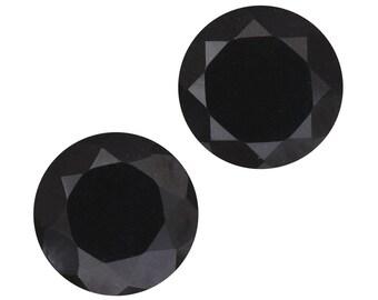 Black Tourmaline Round Cut Set of 2 Loose Gemstones 1A Quality 10mm TGW 5.65 cts.