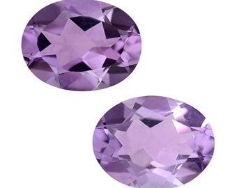 Pink Amethyst Oval Cut Loose Gemstones Set of 2 1A Quality 9x7mm TGW 3.00 cts.
