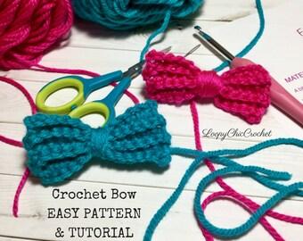 EASY Crochet Bow Pattern & Tutorial, Crochet Bow Pattern for Beginners
