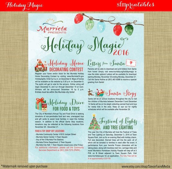 tree lighting holiday decorating toy drive flyer photos with santa template church school. Black Bedroom Furniture Sets. Home Design Ideas