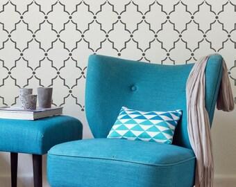 CASABLANCA Moroccan Furniture Wall Craft Stencil - CA003