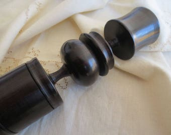 Vintage Ebony Candlestick Tanzania - African Wood Candle Holder