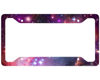 Galaxy License Plate Frame, Stars Car Tag Frame, Universe License Plate Holder, Outer Space Nebula Cute License Plate Frame-30-750