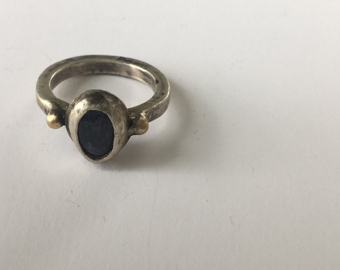 Rustic Tanzanite Ring