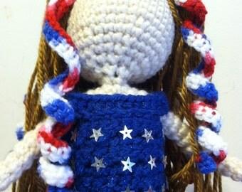 American Flag Crochet Doll