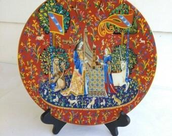 Vintage 1978 La Dame a la Licorne Haviland Limoges Plate Ladies Unicorn Lion, Limoges France Limited Edition Plate