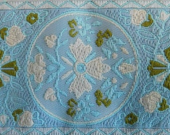 "Jacquard Ribbon Trim | 1-1/2"" Inch Woven Jacquard Ribbon 