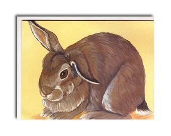 Rabbit Notecard - Rabbit Card - Farm Animal Stationary