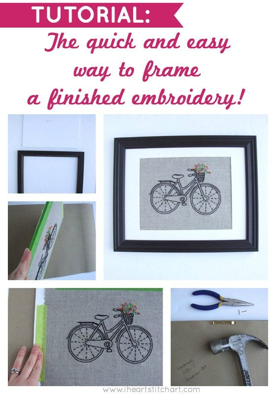 The quick and easy way to frame a finished embroidery