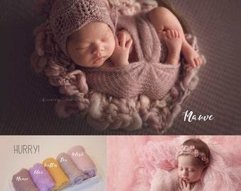 Ready to Ship Merino Mohair Silk  Baby   Patel Colors -  Pink- newborn Basket filler - Toddler Portrait