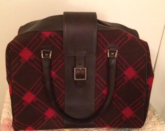 Hartmann Luxe Collection Retro Wool Leather Carry On Luggage