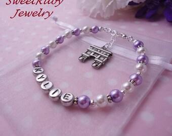 Personalized Fashion Bracelet - Arch of Triumph (Arc de Triomphe) Charm - High Quality Charm  - w/ An Elegant Gift Box