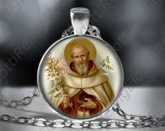 St. Simon Catholic Necklace Christian Medal Pendant Patron Saint Religious Jewelry