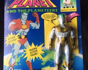 Vintage 1991 Captain Planet with Power Commands Action Figure NIP Unopened *WORKS*