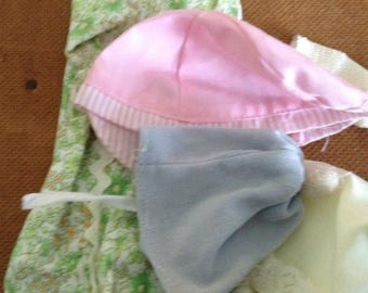 Vintage Small Doll Dress and Doll Hats