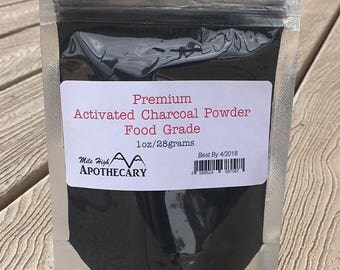 Activated Charcoal Powder • Premium Food Grade  • Indigestion • Teeth Whitening • Skin Care • Soaps • Detox • Acne • Mask