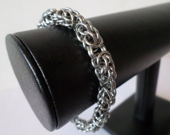Stainless Steel Persian-Byzantine Weave Chainmail Bracelet - Gothic Chainmaille Jewelry
