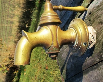 Xxxl Huge Antique Faucet Tap Architectural Industrial Barn Sink Reclaimed WOW