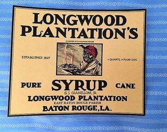 Vintage Pure Cane Syrup Label - Black Americana