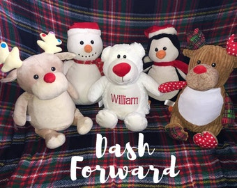 SALE!!!! 18.00!!!!! REGULAR 24.99  Monogrammed Christmas Cubbies, Santa, Reindeer, Rudolf, First Christmas