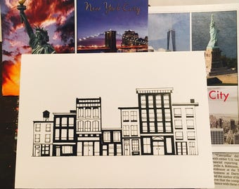 Downtown New York City Note Cards