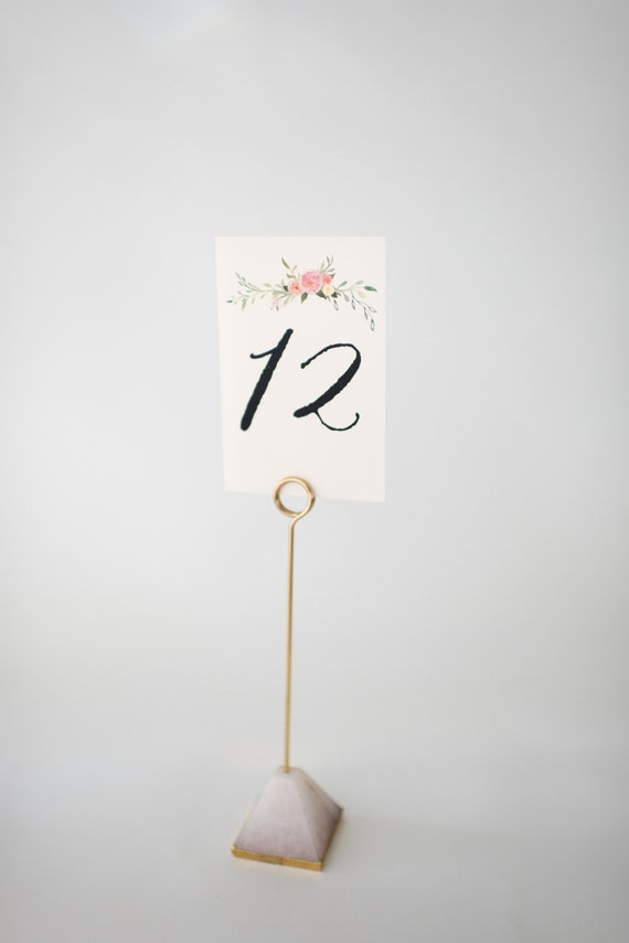violet table numbers (double-sided)  //  lola louie paperie