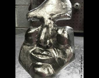 Steel Your Face Fine Art Metal Sculpture
