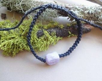 Kunzite macrame knotted adjustable Bracelet