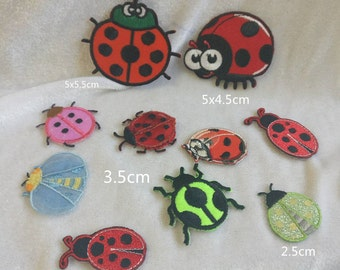 Wholesale Lot   10pcs    ladybug  collection   embroidered iron on patch