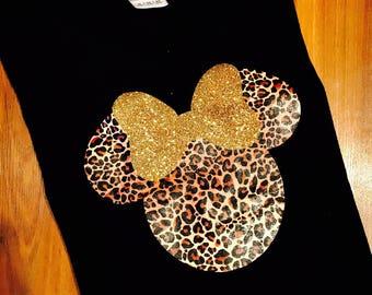 Cheetah Minnie Mouse Tee