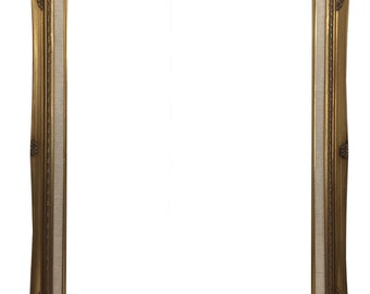 Ornate Baroque Gold Painted Wooden Frame with Cream Canvas Liner Shabby Chic Sizes 22x28 #637G