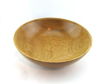 Cherry salad bowl. Finish  with oil  14 3/8 in in diameter by 4 3/8 in. in height Item 428