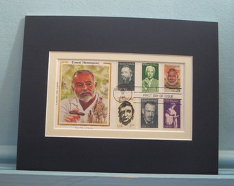 Great American Authors - Thoreau, Melville, Steinbeck, Wharton, Faulner & Hemingway and the First day Cover of the Ernest Hemingway stamp
